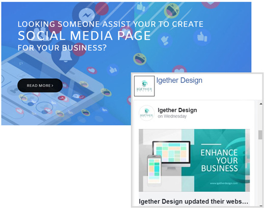 Social media intergration with your websites